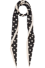 Marc Jacobs Polka-dot wool-gauze scarf