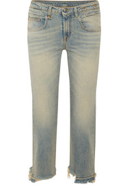 R13 Boy distressed slim boyfriend jeans