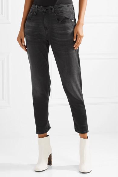 Boy Slouch Cropped Boyfriend Jeans - Black R13 lroA2EXS