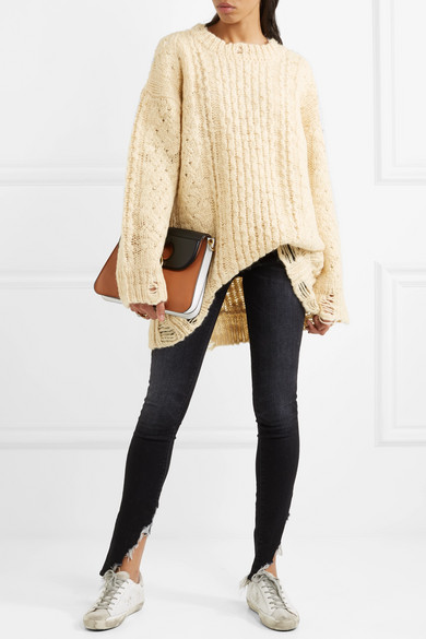 R13 | Oversized distressed cable-knit wool sweater | NET-A-PORTER.COM