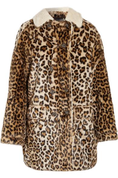 R13 - Faux Shearling-lined Leopard-print Faux Fur Coat - Leopard print