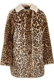R13 Faux shearling-lined leopard-print faux fur coat