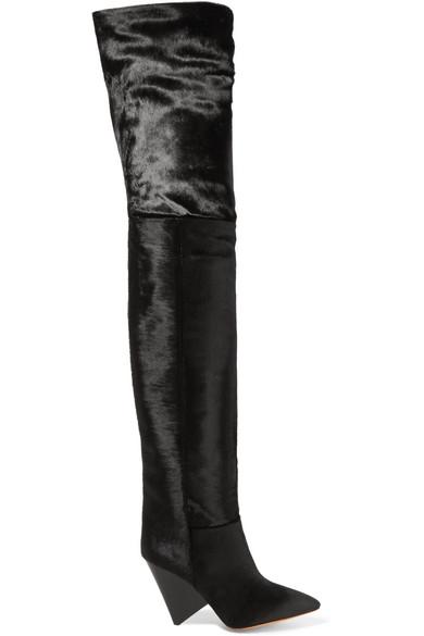 a2c094ceba0 Isabel Marant. Lostynn calf hair over-the-knee boots