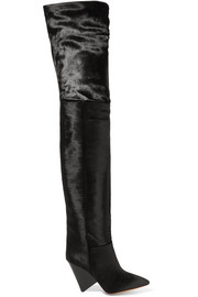 Lostynn calf hair over-the-knee boots