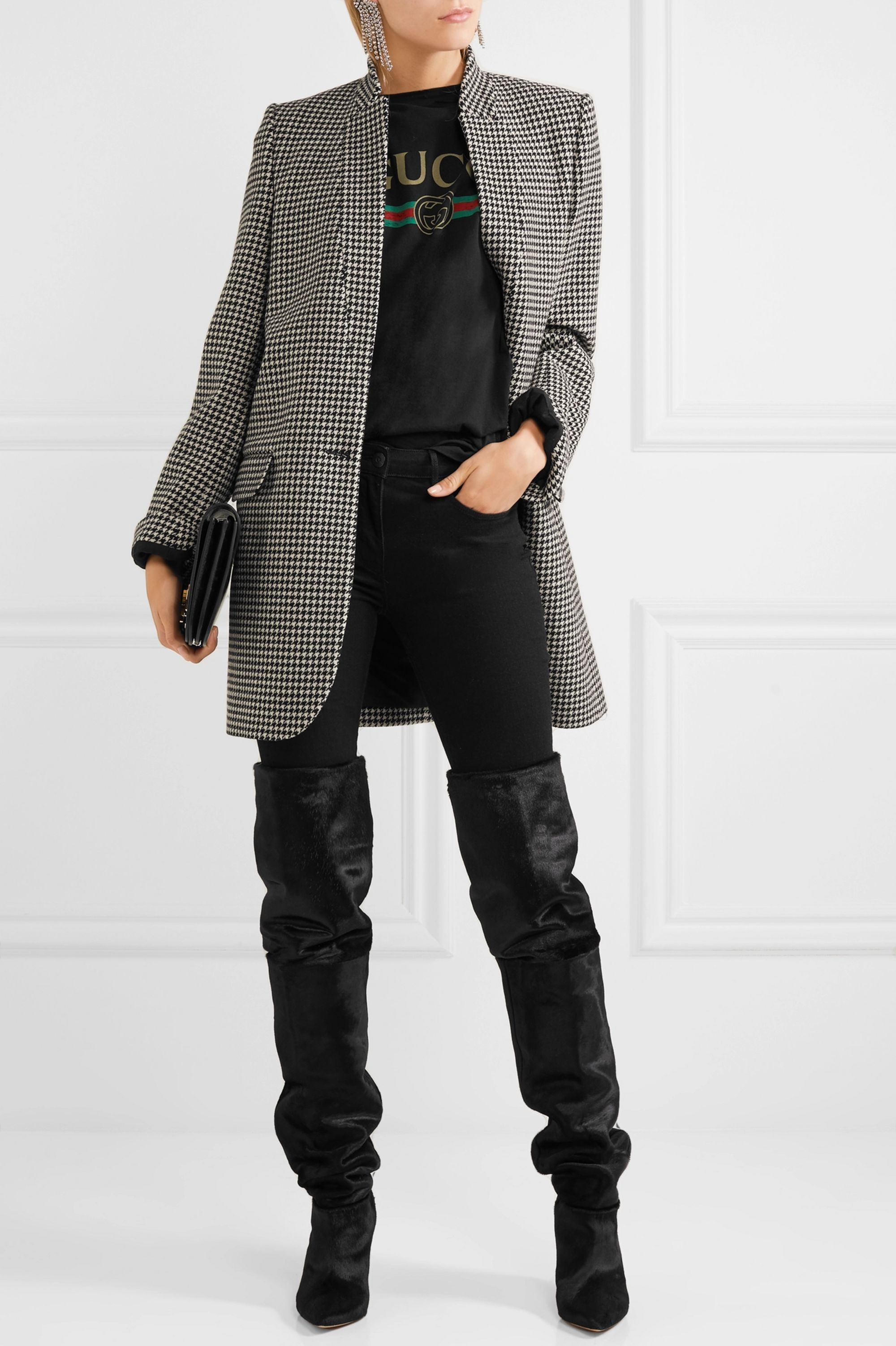 Isabel Marant Lostynn calf hair over-the-knee boots