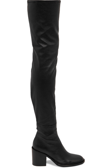 72a1a730d62 Ann Demeulemeester. Stretch-leather over-the-knee boots