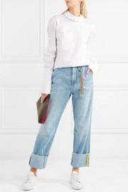 Lost Ribbon embroidered boyfriend jeans