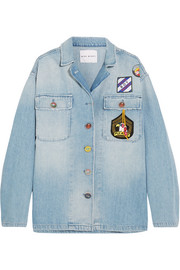 Scout appliquéd denim shirt