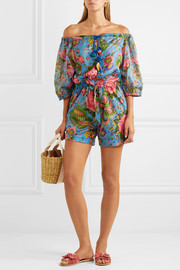 Anjuna Charlee floral-print cotton-voile playsuit