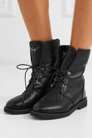 Giuseppe Zanotti Shearling-lined leather boots