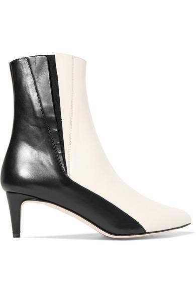 quality design ac2bb 08401 Leder Nila Boots Aus Ankle Zweifarbige 0knPwO