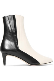 Nila two-tone leather ankle boots