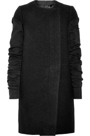 Paneled wool-felt coat