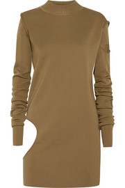 Convertible cutout wool tunic sweater