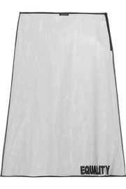 Versace Embroidered tulle midi skirt