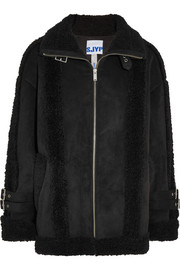 Mustang buckled faux shearling jacket