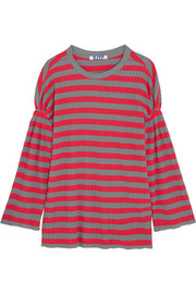 SJYP Ribbed striped cotton top