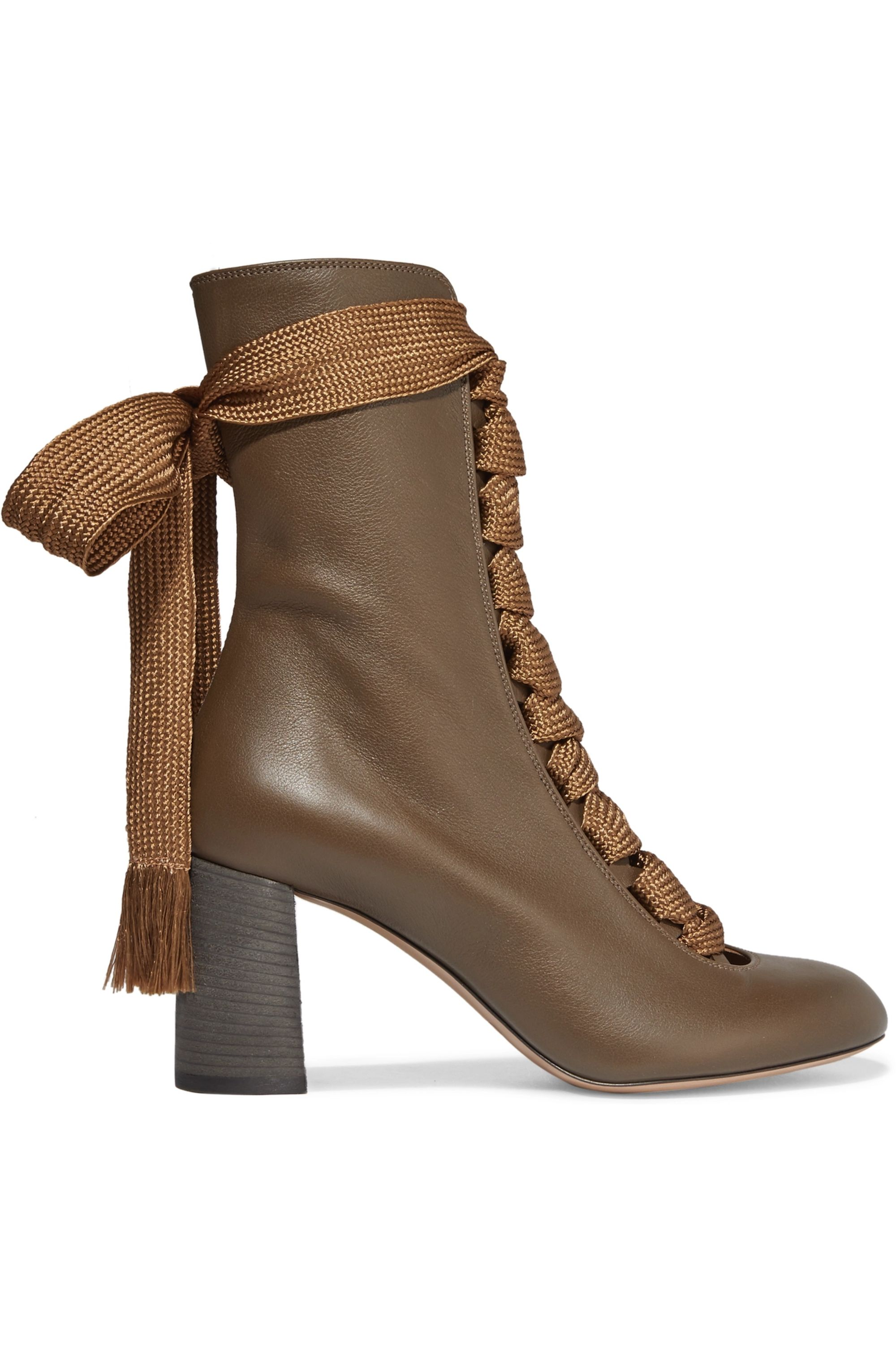 Chloé Harper textured-leather ankle boots