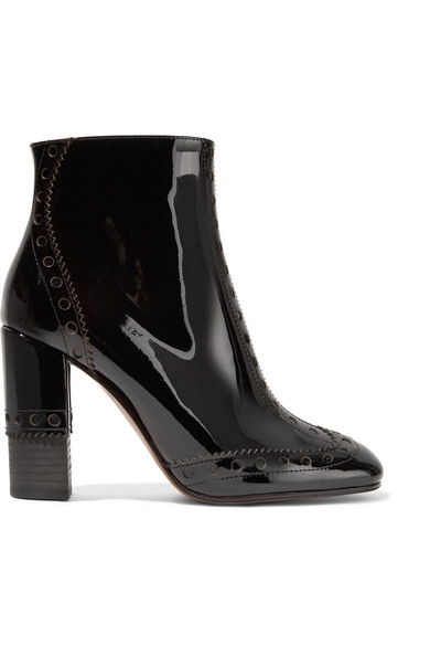 4da6ef79b834 Chloé. Perry patent-leather ankle boots