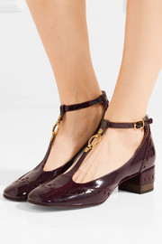 Chloé Perry patent-leather Mary Jane pumps