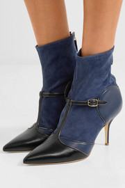 Sadie suede and leather sock boots