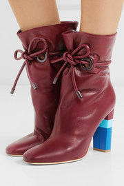 + Roksanda Dolly drawstring leather ankle boots