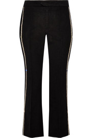 Philea Swarovski crystal-embellished felt straight-leg pants