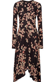 Isabel Marant Diana asymmetric floral-print stretch-crepe dress
