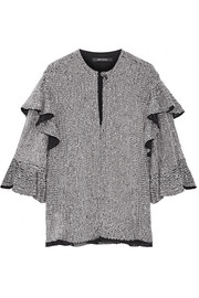 Isabel Marant Basile ruffled sequined tulle top