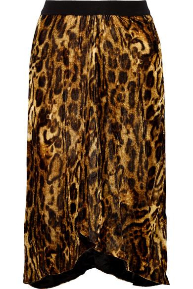 Isabel Marant - Tursanne Asymmetric Leopard-print Velvet Skirt - Leopard print