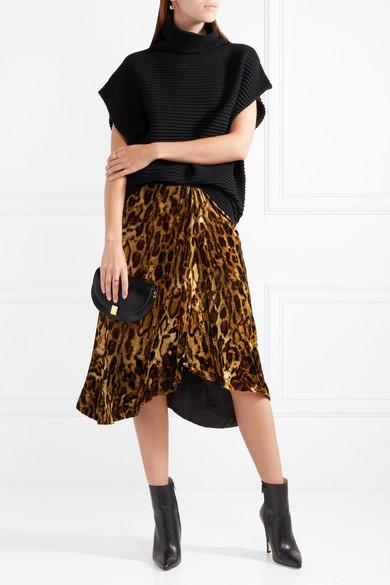 6567955918ff Isabel Marant | Tursanne asymmetric leopard-print velvet skirt | NET ...