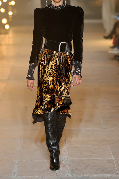 1bb84ef37eb3 Isabel Marant. Tursanne asymmetric leopard-print velvet skirt. £232.50. Play