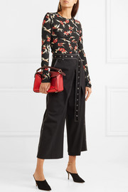 Isabel Marant Domino ruched floral-print stretch-crepe top