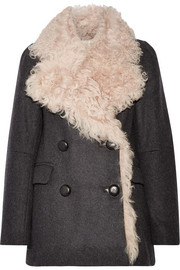 Isabel Marant Berit shearling-lined wool-blend coat