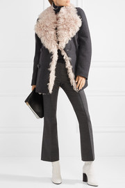 Berit shearling-lined wool-blend coat