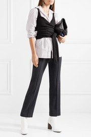 Isabel Marant Ebony cropped knitted wrap top