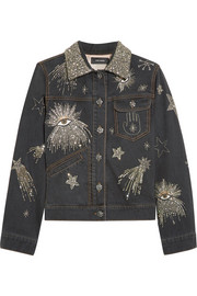 Isabel Marant Eloise embellished denim jacket
