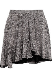 Isabel Marant Babylon asymmetric sequined chiffon mini skirt