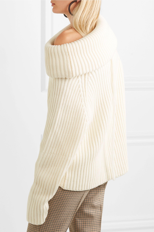 Joseph Oversized ribbed wool turtleneck sweater
