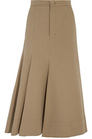 Joseph Laurel frayed cotton and silk-blend twill skirt
