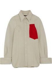 Joseph Moss appliquéd wool shirt