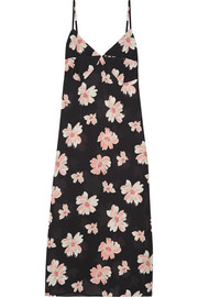 Inga floral-print twill slip dress