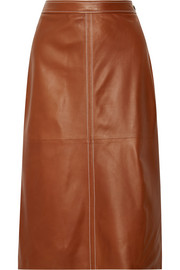 Erith leather midi skirt