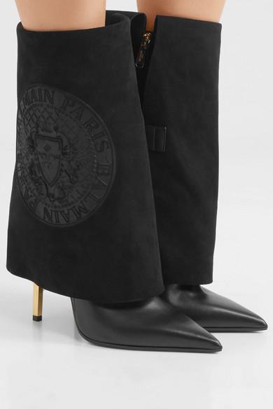 Balmain Babette Leather Knee Boots Gr. FR 38 QdTOXqFs0