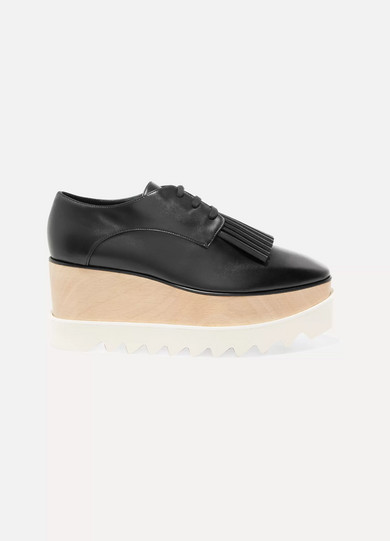 Elyse faux leather platform brogues