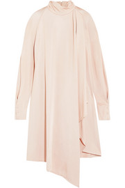 Carven Asymmetric draped satin dress