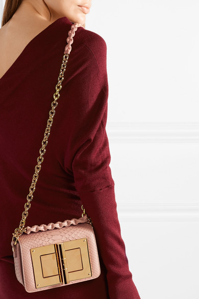 Tom Ford Narrow Small Shoulder Bag Python Leather From