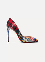 Pigalle Follies 100 bouclé-tweed pumps