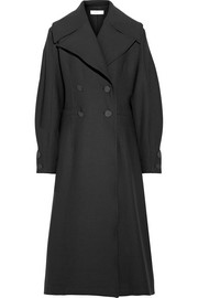 Ono double-breasted twill coat