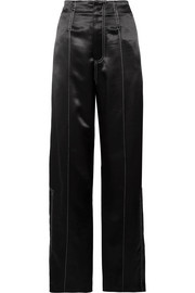 Rana satin-crepe wide-leg pants